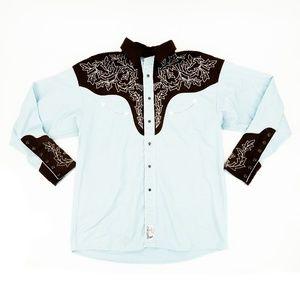 Vintage Panhandle Slim Western Shirt Pearl Snap L